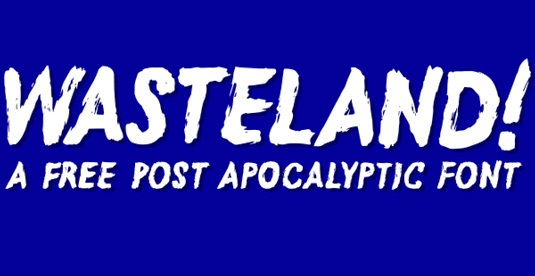 Download Free Font Gratis for Graphic Design and Web - Wasteland-Free-Font