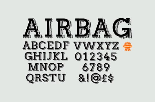 Download 100 Font Gratis untuk Desain Grafis dan Web - airbag