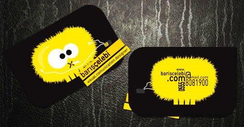 Contoh Desain Kartu Nama yang Unik - black-yellow-business-card
