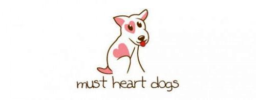 Contoh Logo Bertemakan Hati Love Heart - must-heart-dogs
