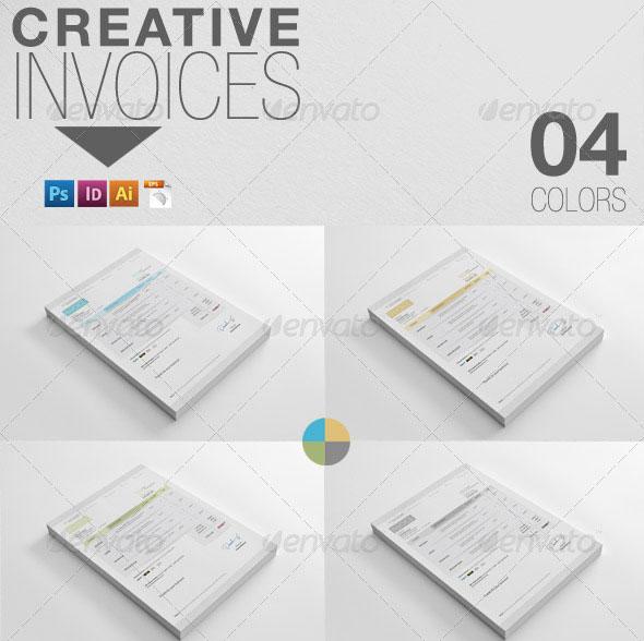 Contoh Invoice Desain Modern