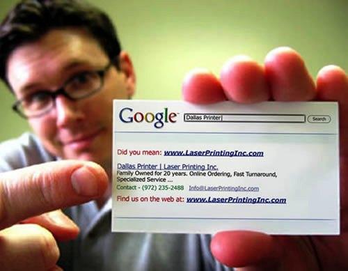 Contoh Desain Kartu Nama yang Unik - Google-search-business-card