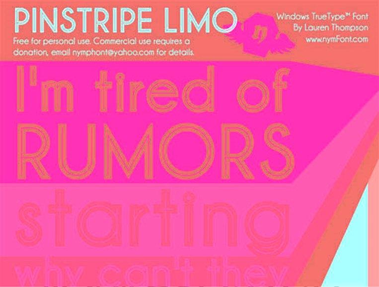 Font Cantik Free Download Gratis - Pinstripe-Limo