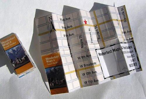 Contoh Desain Kartu Nama yang Unik - mandedust-map-like-business-card