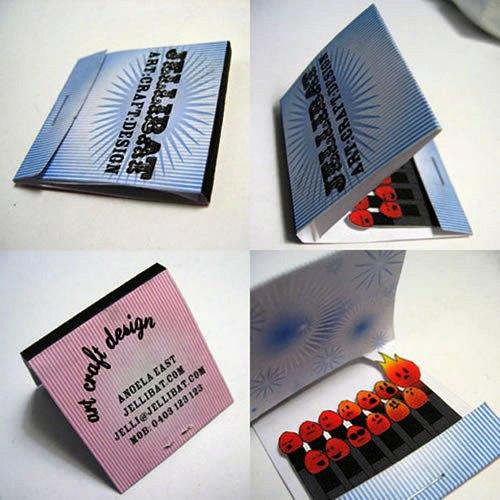 Contoh Desain Kartu Nama yang Unik - matches-pack-like-business-card
