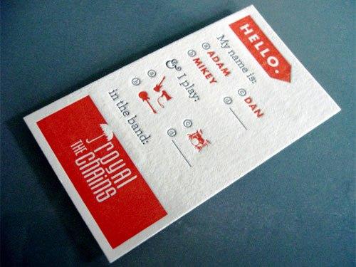 Contoh Desain Kartu Nama yang Unik - press-printing-business-card