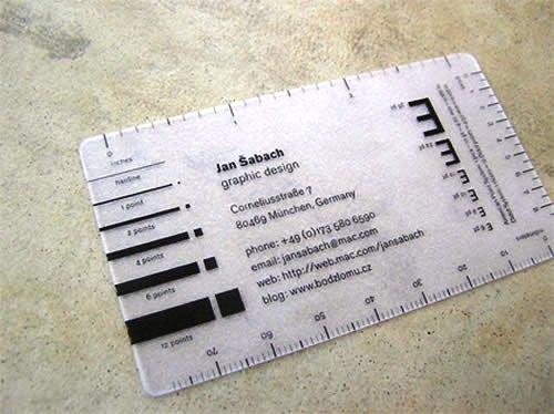 Contoh Desain Kartu Nama yang Unik - ruler-like-business-card