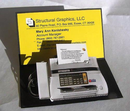 Contoh Desain Kartu Nama yang Unik - structural-graphic-fax-like-business-card