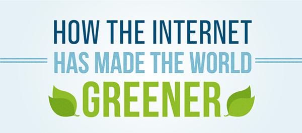 Desain Infografik Keren dan Informatif - Infografik tentang Green Internet
