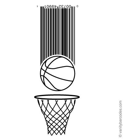 Desain Barcode Keren yang Unik - desain barcode unik kreatif vanitybarcodes - barcode seperti bola basket