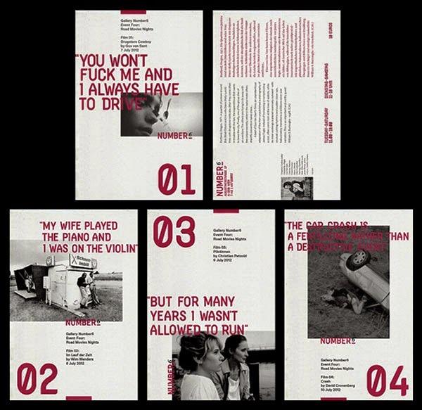 22 Disain Katalog Kreatif - Contoh desain katalog - NUMBER6 COLLECTIVE oleh Studio Sarp Sozdinler