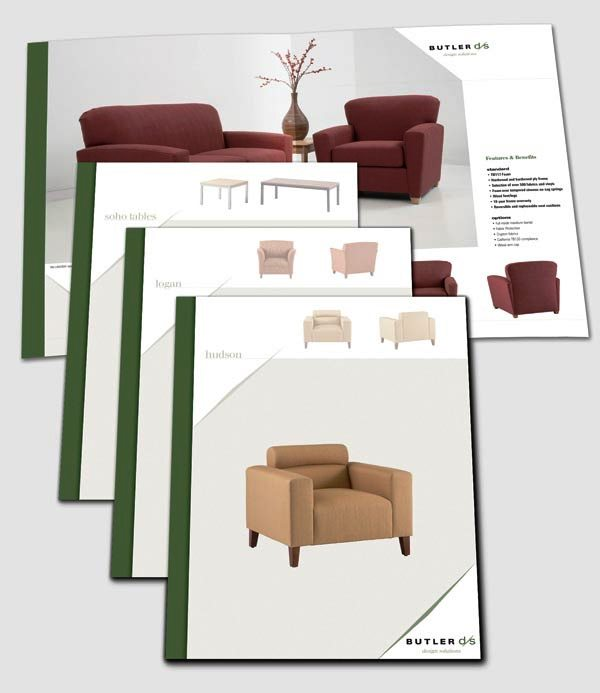 Desain katalog brosur furnitur modern percetakan karawang for Furniture brochure design inspiration