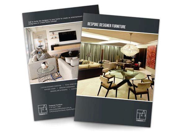 Desain Katalog Brosur Furnitur Modern Percetakan Karawang