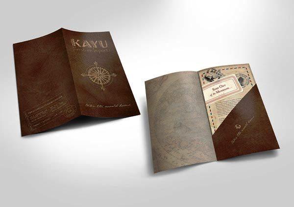 Desain Katalog Brosur Furnitur Modern - Katalog Brosur - - Kayu Furniture 1