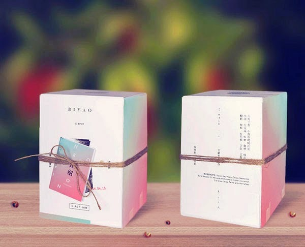 Desain Kemasan Sambal Saus yang Kreatif - Desain Kemasan Makanan Saus Sambal - BIYAO Sichuan Hot Pot oleh Tom Jueris