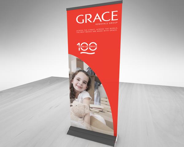 15 Desain Roller Banner - Desain Roller X Banner - Grace Group Exhibition Graphics