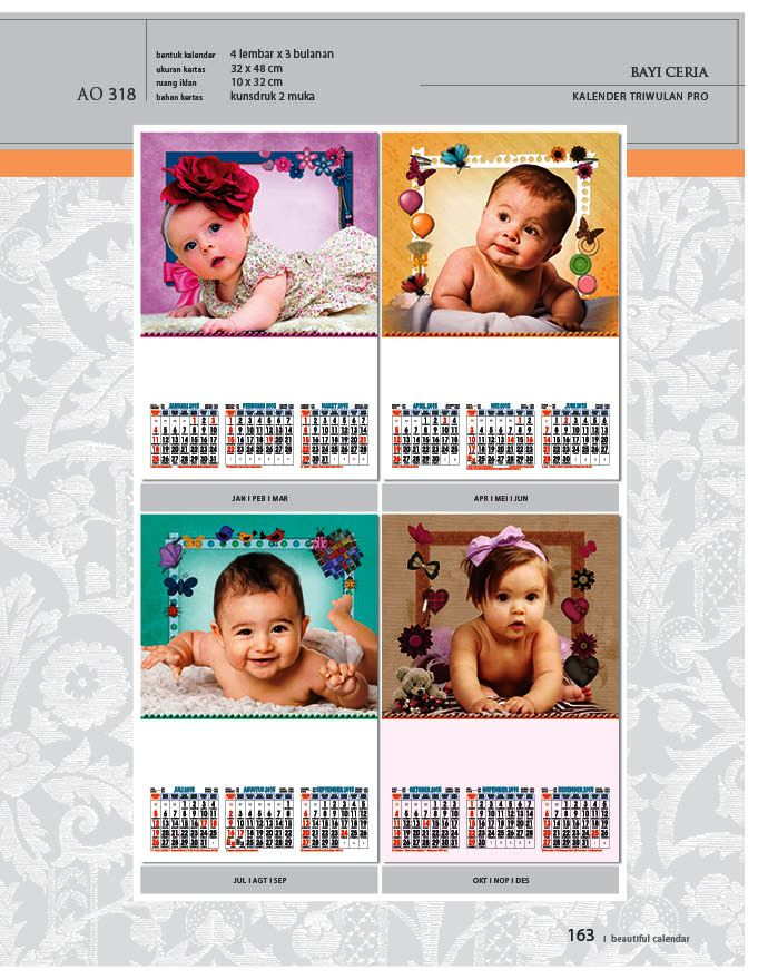 Kalender 2015 Triwulan AO Design Wall Calendar Dinding - Kalender 2015 AO - Triwulan 3 Bulanan - Free Download Jpg Thumbnails Quality Preview - Tema Foto Gambar Bayi Anak-anak Ceria