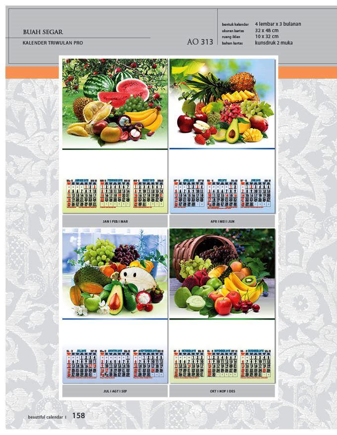 Kalender 2015 Triwulan AO Design Wall Calendar Dinding - Kalender 2015 AO - Triwulan 3 Bulanan - Free Download Jpg Thumbnails Quality Preview - Tema Foto Gambar Buah Buahan Segar