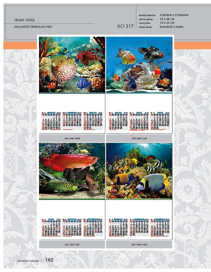 Kalender 2015 Triwulan AO Design Wall Calendar Dinding - Kalender 2015 AO - Triwulan 3 Bulanan - Free Download Jpg Thumbnails Quality Preview - Tema Foto Gambar Ikan Hias Arwana Mas Koki