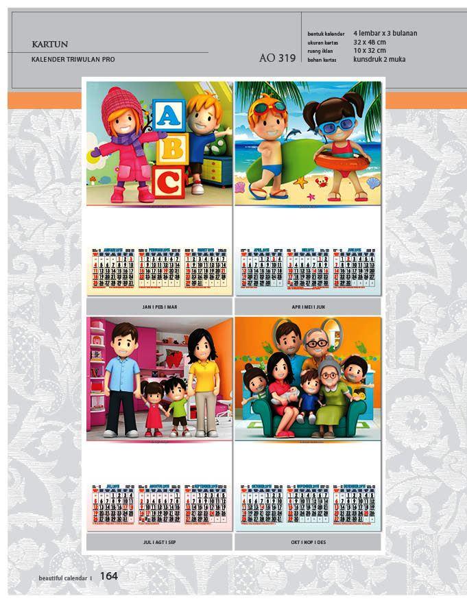 Kalender 2015 Triwulan AO Design Wall Calendar Dinding - Kalender 2015 AO - Triwulan 3 Bulanan - Free Download Jpg Thumbnails Quality Preview - Tema Foto Gambar Ilustrasi Kartun Anak-anak