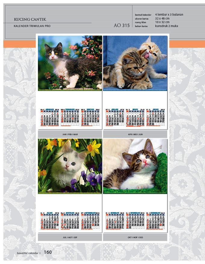 Kalender 2015 Triwulan AO Design Wall Calendar Dinding - Kalender 2015 AO - Triwulan 3 Bulanan - Free Download Jpg Thumbnails Quality Preview - Tema Foto Gambar Kucing Eksotis