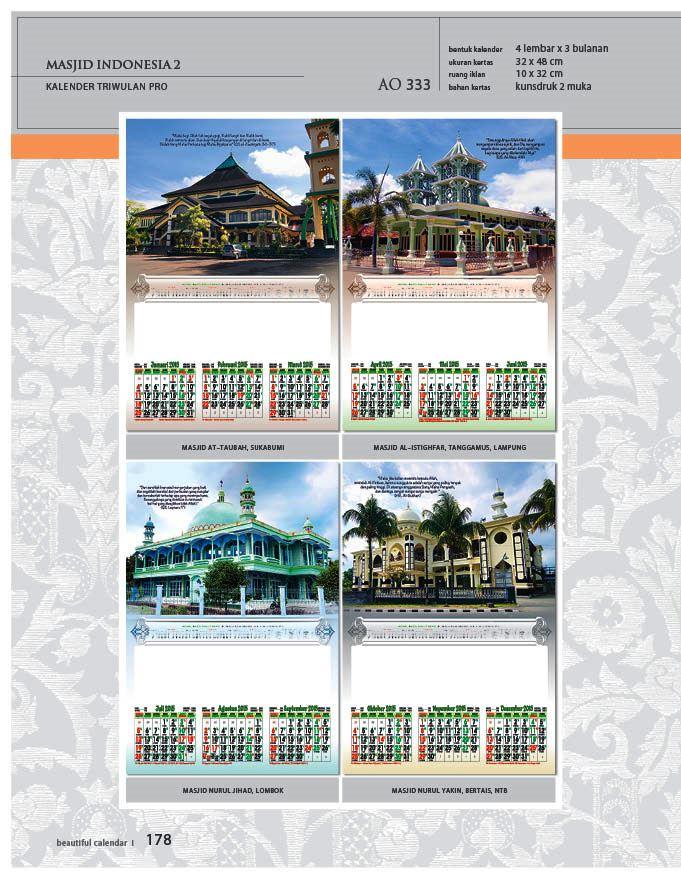 Kalender 2015 Triwulan AO Design Wall Calendar Dinding - Kalender 2015 AO - Triwulan 3 Bulanan - Free Download Jpg Thumbnails Quality Preview - Tema Foto Gambar Masjid di Indonesia 2