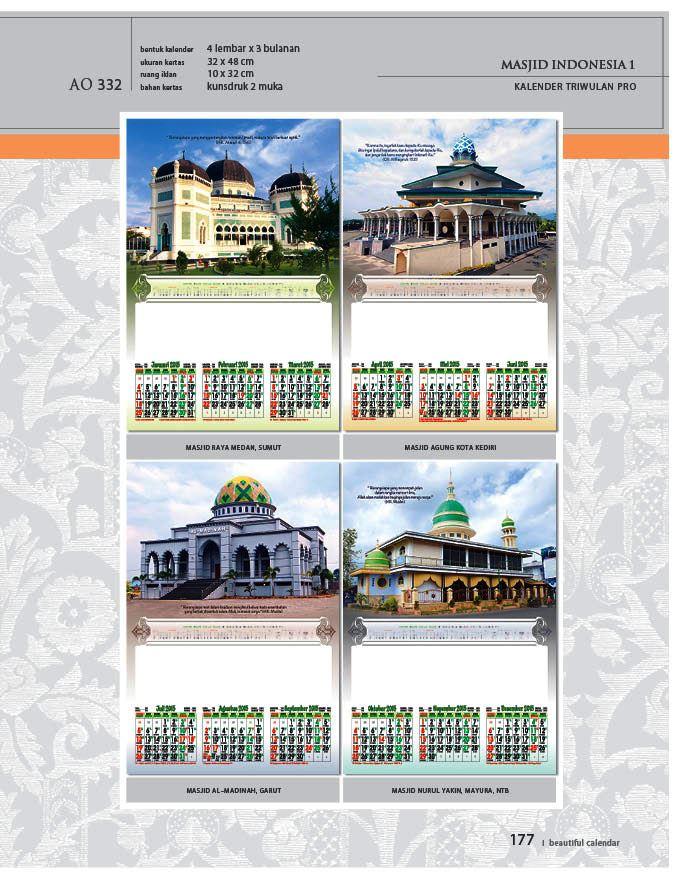 Kalender 2015 Triwulan AO Design Wall Calendar Dinding - Kalender 2015 AO - Triwulan 3 Bulanan - Free Download Jpg Thumbnails Quality Preview - Tema Foto Gambar Masjid di Indonesia