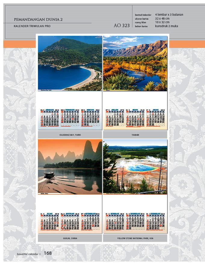 Kalender 2015 Triwulan AO Design Wall Calendar Dinding - Kalender 2015 AO - Triwulan 3 Bulanan - Free Download Jpg Thumbnails Quality Preview - Tema Foto Gambar Pemandangan Alam Dunia 2