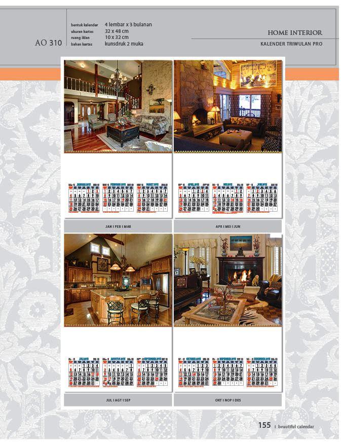 Kalender 2015 Triwulan AO Design Wall Calendar Dinding - Kalender 2015 AO - Triwulan 3 Bulanan - Free Download Jpg Thumbnails Quality Preview - Tema Home Interior Desain Rumah