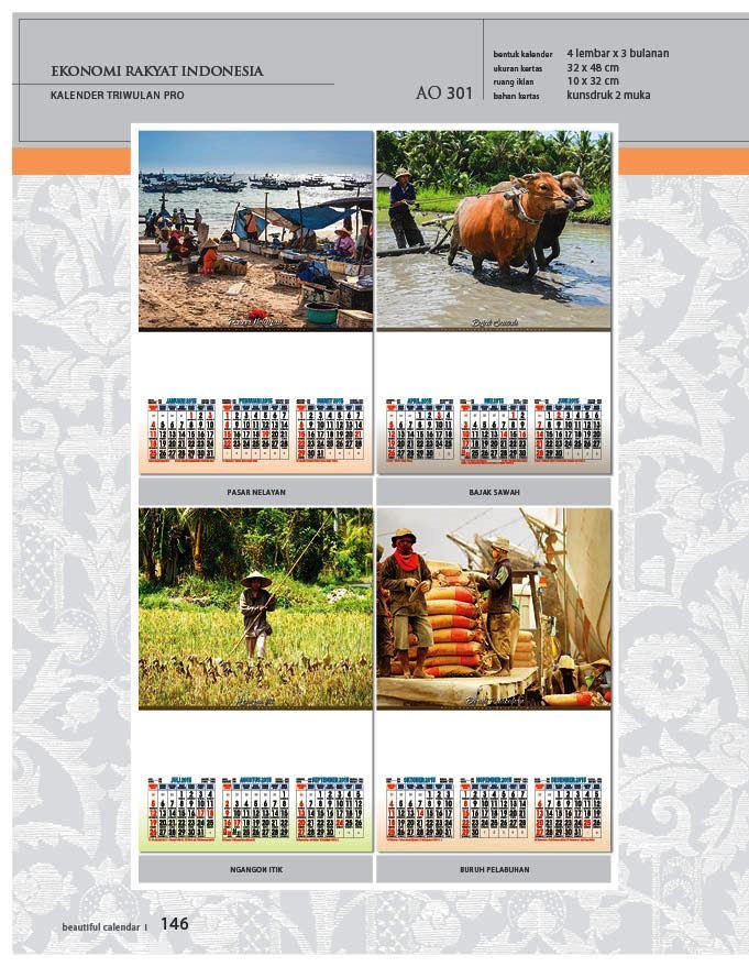 Kalender 2015 Triwulan AO Design Wall Calendar Dinding - Kalender 2015 AO - Triwulan 3 Bulanan - Free Download Jpg Thumbnails Quality Preview - Tema Kehidupan Ekonomi Daerah di Indonesia