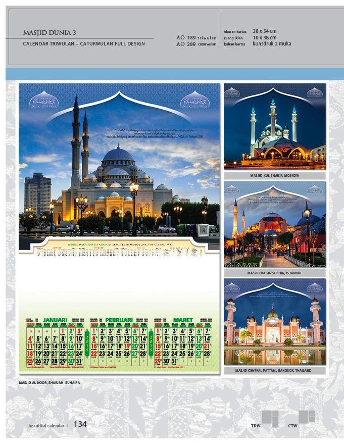 Kalender 2015 Triwulan AO Design Wall Calendar Dinding - Kalender 2015 AO - Triwulan 3 Bulanan - Free Download Jpg Thumbnails Quality Preview - Tema Masjid di Moskow Buhaira Istambul Thailand