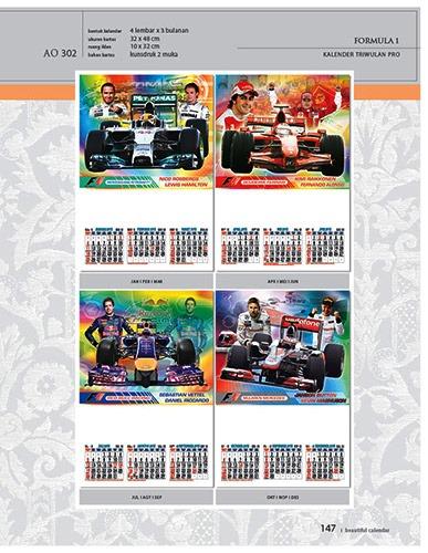 Kalender 2015 Triwulan AO Design Wall Calendar Dinding - Kalender 2015 AO - Triwulan 3 Bulanan - Free Download Jpg Thumbnails Quality Preview - Tema Mobil Balap Formula 1 F1