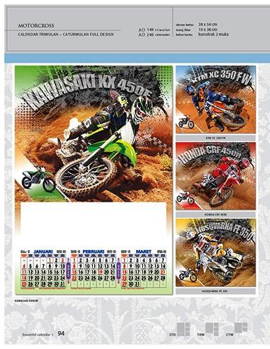 Kalender 2015 Triwulan AO Design Wall Calendar Dinding - Kalender 2015 AO - Triwulan 3 Bulanan - Free Download Jpg Thumbnails Quality Preview - Tema Motocross