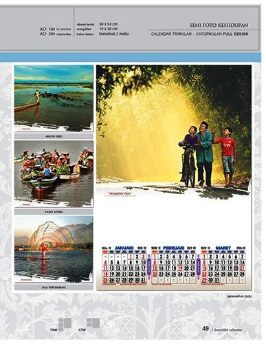 Kalender 2015 Desain Standar Full AO Print Cetak - Kalender 2015 Desain Standar Full - AO 04 - Seni Foto Kehidupan