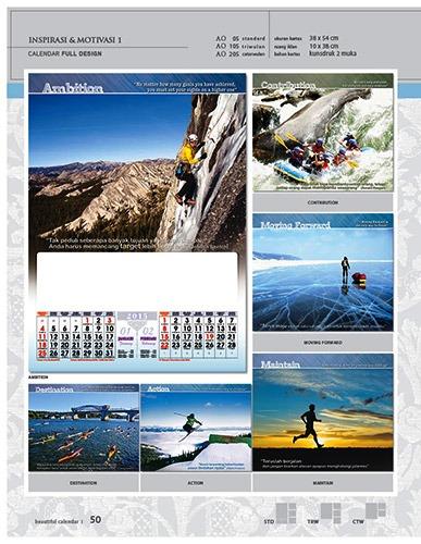 Kalender 2015 Desain Standar Full AO Print Cetak - Kalender 2015 Desain Standar Full - AO 05 - Inspirasi & Motivasi 1