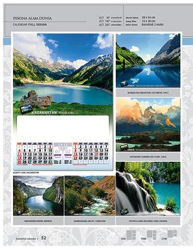 Kalender 2015 Desain Standar Full AO Print Cetak - Kalender 2015 Desain Standar Full - AO 07 - Pemandangan Alam Dunia