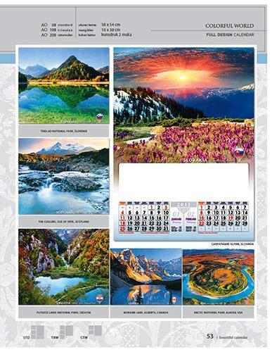 Kalender 2015 Desain Standar Full AO Print Cetak - Kalender 2015 Desain Standar Full - AO 08 - Colorful World