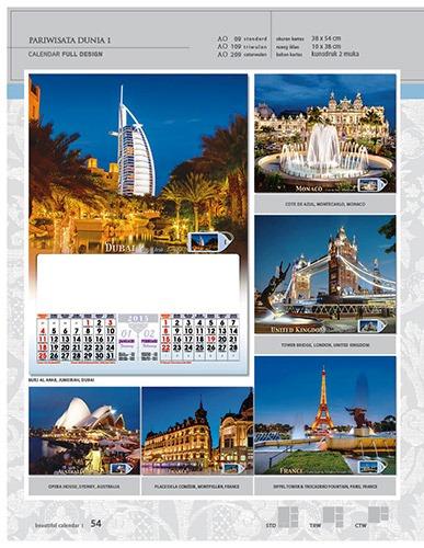 Kalender 2015 Desain Standar Full AO Print Cetak - Kalender 2015 Desain Standar Full - AO 09 - Pariwisata Dunia 1