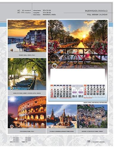 Kalender 2015 Desain Standar Full AO Print Cetak - Kalender 2015 Desain Standar Full - AO 10 - Pariwisata Dunia 2