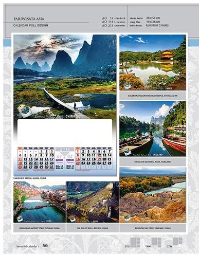 Kalender 2015 Desain Standar Full AO Print Cetak - Kalender 2015 Desain Standar Full - AO 11 - Pariwisata Asia
