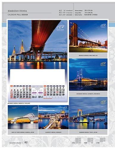 Kalender 2015 Desain Standar Full AO Print Cetak - Kalender 2015 Desain Standar Full - AO 17 - Jembatan Dunia