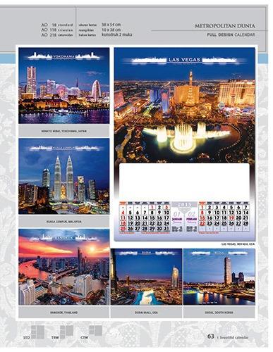 Kalender 2015 Desain Standar Full AO Print Cetak - Kalender 2015 Desain Standar Full - AO 18 - Metropolitan Dunia