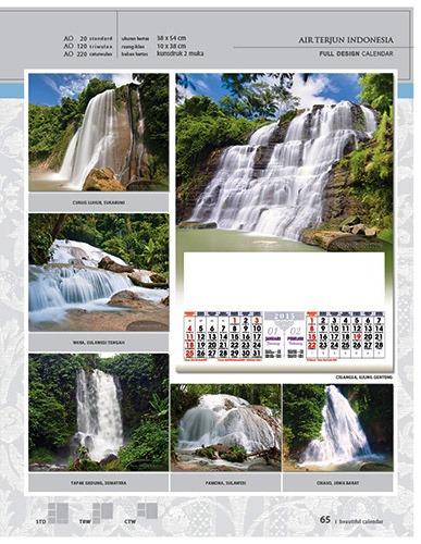 Kalender 2015 Desain Standar Full AO Print Cetak - Kalender 2015 Desain Standar Full - AO 20 - Air Terjun Indonesia