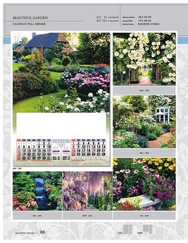 Kalender 2015 Desain Standar Full AO Print Cetak - Kalender 2015 Desain Standar Full - AO 21 - Beautiful Garden