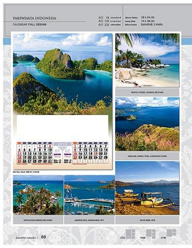 Kalender 2015 Desain Standar Full AO Print Cetak - Kalender 2015 Desain Standar Full - AO 23 - Pariwisata Indonesia