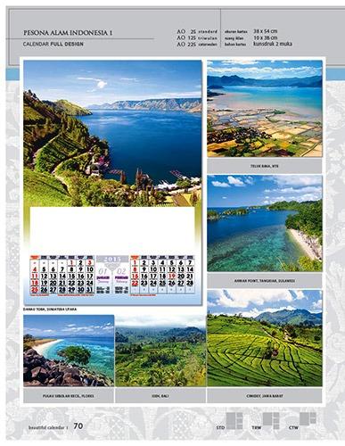 Kalender 2015 Desain Standar Full AO Print Cetak - Kalender 2015 Desain Standar Full - AO 25 - Pesona Alam Indonesia 1