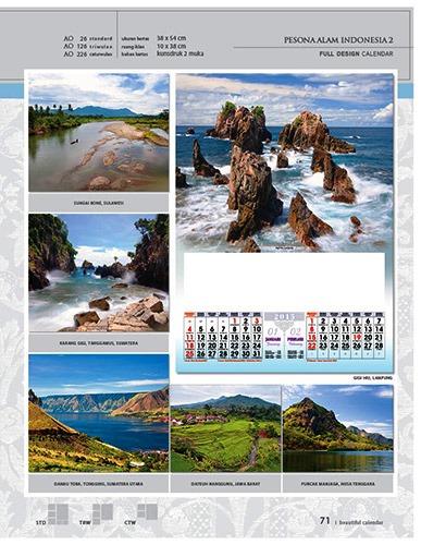 Kalender 2015 Desain Standar Full AO Print Cetak - Kalender 2015 Desain Standar Full - AO 26 - Pesona Alam Indonesia 2