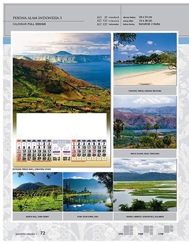 Kalender 2015 Desain Standar Full AO Print Cetak - Kalender 2015 Desain Standar Full - AO 27 - Pesona Alam Indonesia 3