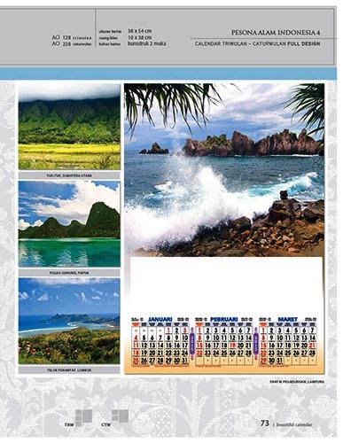 Kalender 2015 Desain Standar Full AO Print Cetak - Kalender 2015 Desain Standar Full - AO 28 - Pesona Alam Indonesia 4