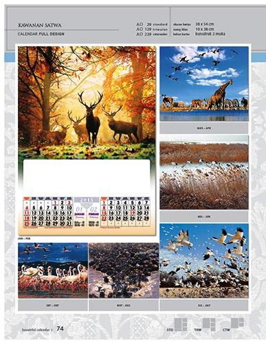 Kalender 2015 Desain Standar Full AO Print Cetak - Kalender 2015 Desain Standar Full - AO 29 - Kawanan Satwa